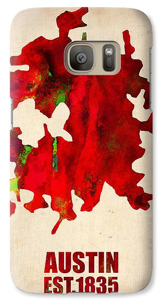 Austin Galaxy S7 Case - Austin Watercolor Map by Naxart Studio