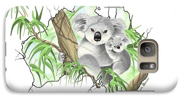 Koala Galaxy S7 Case - Australia by Veronica Minozzi