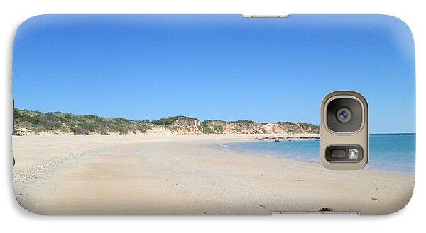 Galaxy Case featuring the photograph Australian Beach by Tony Mathews