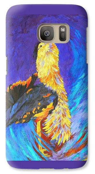 Galaxy Case featuring the painting Australian Bustard Displaying by Margaret Saheed