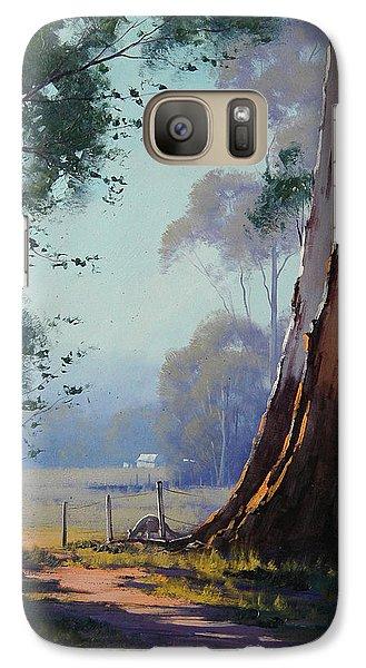 Kangaroo Galaxy S7 Case - Australian Farm Painting by Graham Gercken