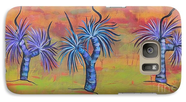 Galaxy Case featuring the painting Australian Grass Trees by Lyn Olsen