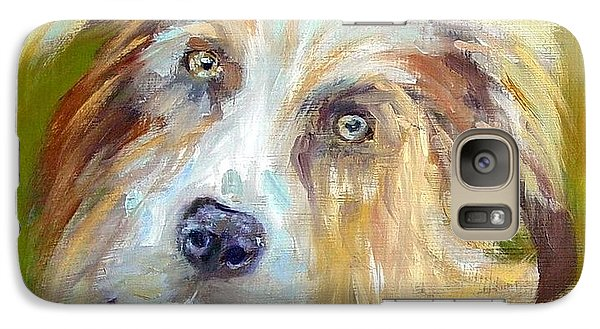 Galaxy Case featuring the painting Australian Shepherd by Carol Berning