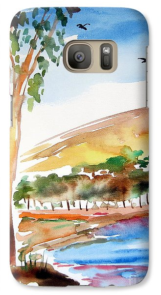 Galaxy Case featuring the painting Australian Trees by Roberto Gagliardi