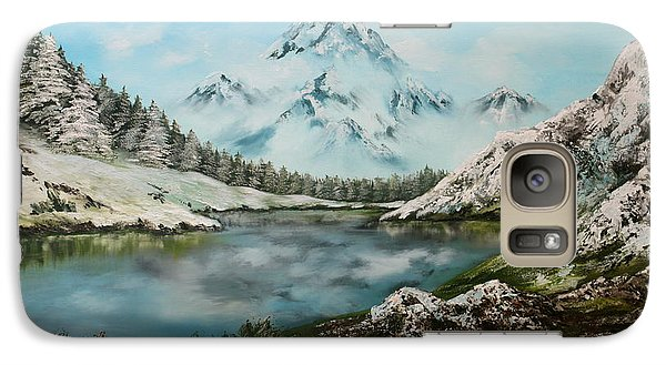Galaxy Case featuring the painting Austrian Lake by Jean Walker