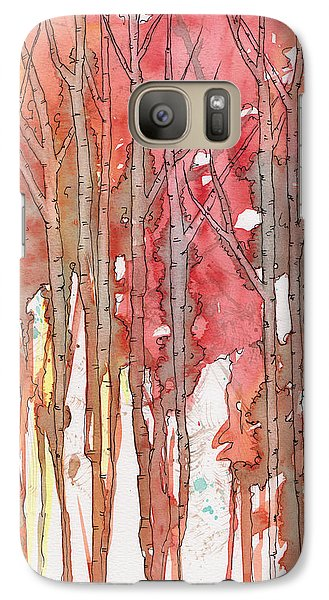 Galaxy Case featuring the painting Autumn Abstract No.1 by Rebecca Davis