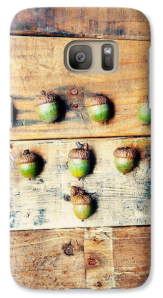 Galaxy Case featuring the photograph Autumn Acorns by Kim Fearheiley