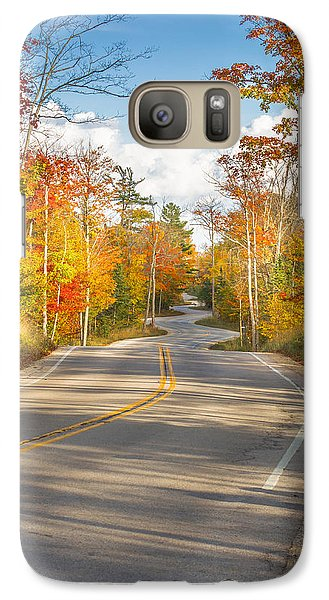 Galaxy Case featuring the photograph Autumn Afternoon On The Winding Road by Mark David Zahn