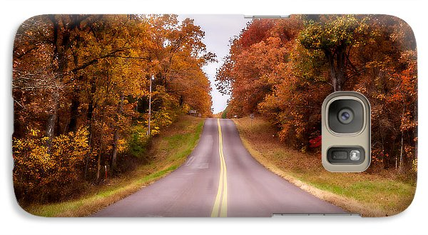 Galaxy Case featuring the photograph Autumn Along The Rural Road by Julie Clements