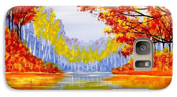 Galaxy Case featuring the painting Autumn At The Lake by Darren Robinson
