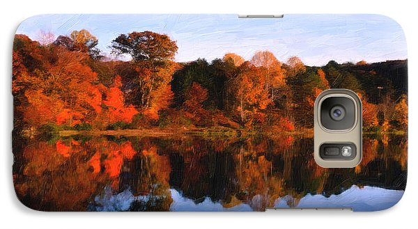 Galaxy Case featuring the digital art Autumn At The Lake by Spyder Webb