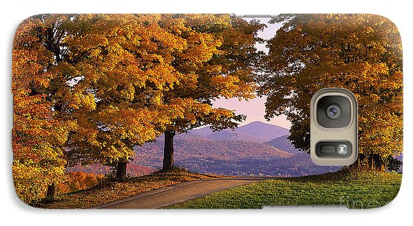Galaxy Case featuring the photograph Autumn Backroad View by Alan L Graham