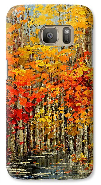 Galaxy Case featuring the painting Autumn Banners by Tatiana Iliina