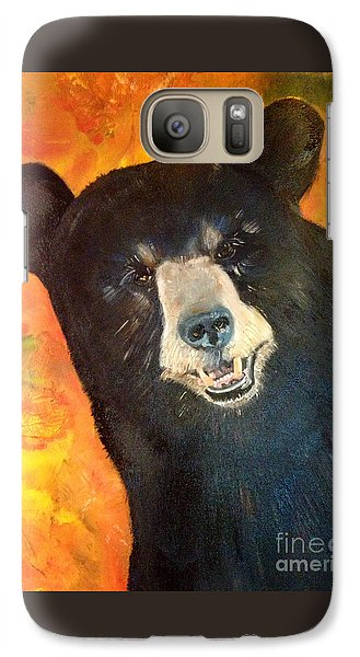 Galaxy Case featuring the painting Autumn Bear by Jan Dappen