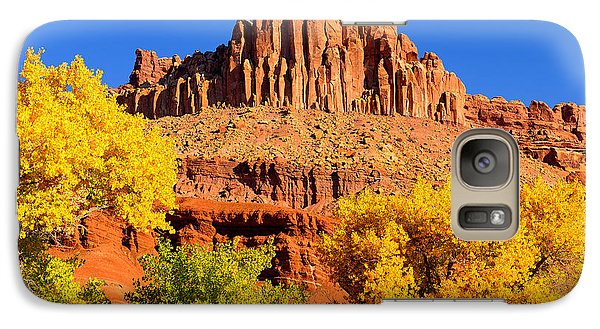 Galaxy Case featuring the photograph Autumn Beneath The Castle by Greg Norrell