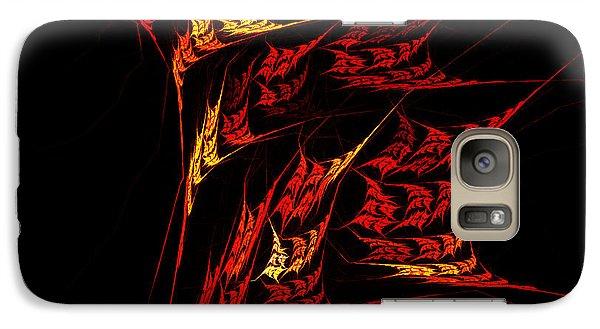 Galaxy Case featuring the digital art Autumn Blaze by R Thomas Brass
