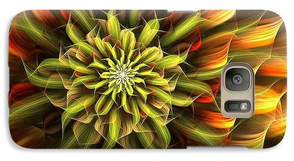 Galaxy Case featuring the digital art Autumn Bloom by Linda Whiteside