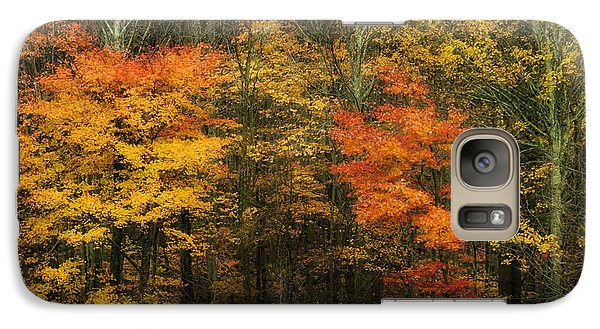 Galaxy Case featuring the photograph Autumn Bright by Joan Bertucci