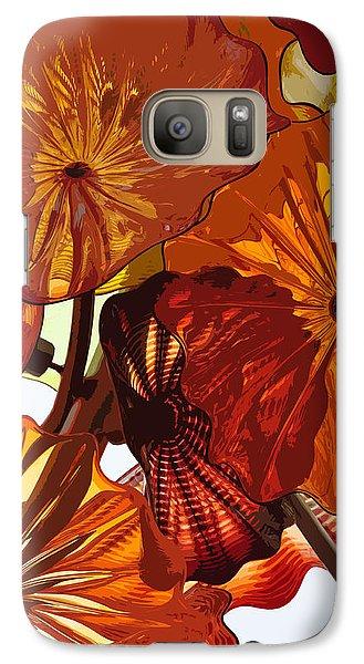 Galaxy Case featuring the digital art Autumn Burst by Kirt Tisdale