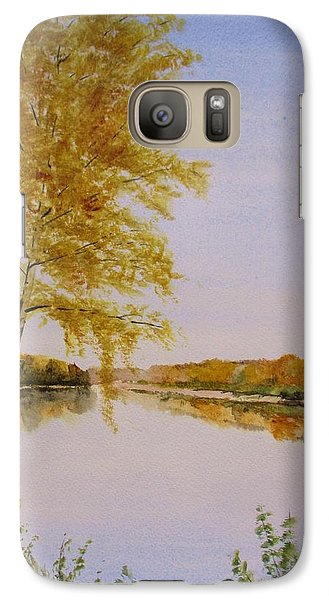 Galaxy Case featuring the painting Autumn By The River by Martin Howard