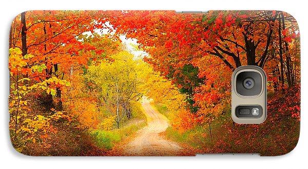 Galaxy Case featuring the photograph Autumn Cameo 2 by Terri Gostola
