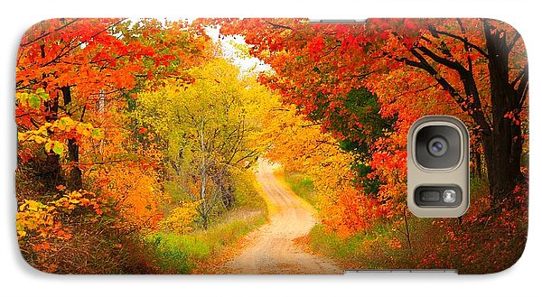 Galaxy Case featuring the photograph Autumn Cameo Road by Terri Gostola
