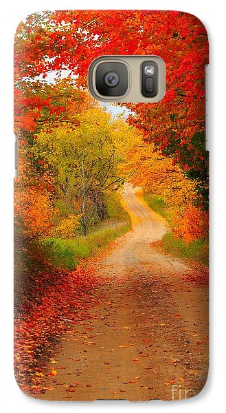 Galaxy Case featuring the photograph Autumn Cameo by Terri Gostola