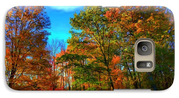 Galaxy Case featuring the digital art Autumn Clearing by Dennis Lundell