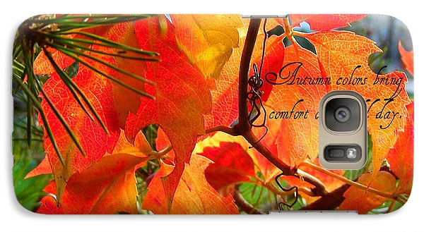 Galaxy Case featuring the photograph Autumn Colors by Heidi Manly