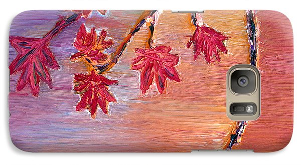Galaxy Case featuring the painting Autumn Colors by Vadim Levin