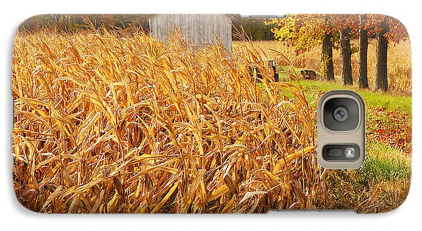 Galaxy Case featuring the photograph Autumn Corn by Mary Carol Story