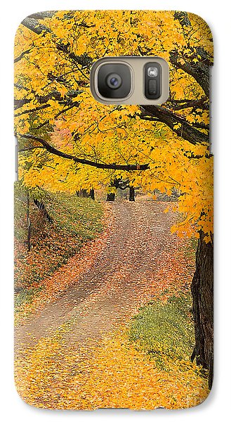 Galaxy Case featuring the photograph Autumn Country Road by Alan L Graham