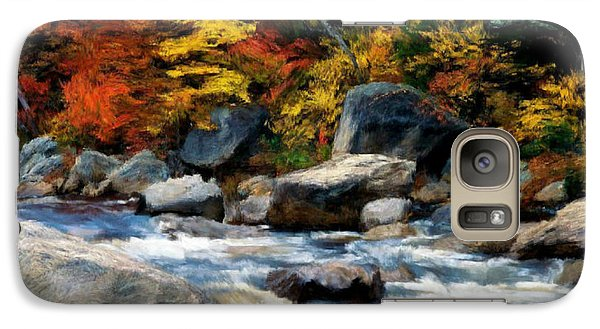 Galaxy Case featuring the painting Autumn Creek by Bruce Nutting