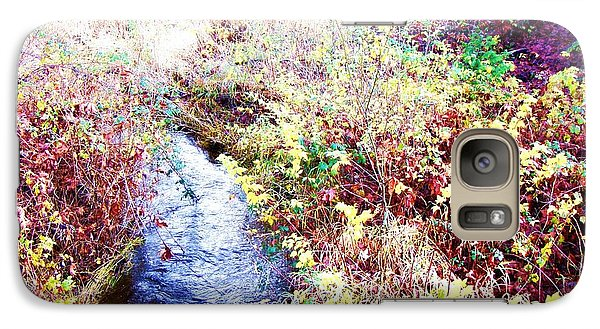 Galaxy Case featuring the photograph Autumn Creek by Vanessa Palomino