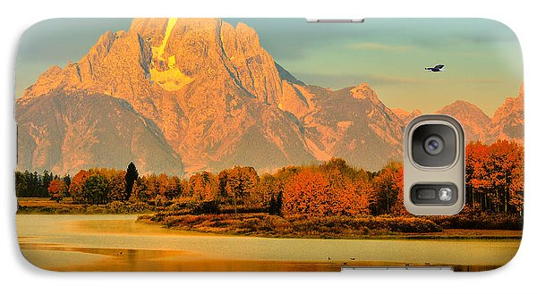 Galaxy Case featuring the photograph Autumn Dawn At Oxbow Bend by Greg Norrell