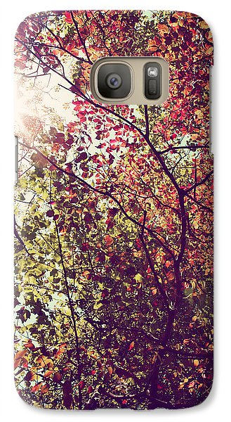 Galaxy Case featuring the photograph Autumn Dresses In Flame And Gold by Kim Fearheiley