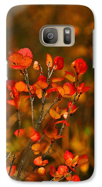 Galaxy Case featuring the photograph Autumn Emblem by Jeremy Rhoades