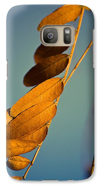 Galaxy Case featuring the photograph Autumn Feathers by Dave Garner
