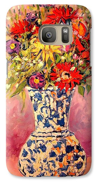 Galaxy Case featuring the painting Autumn Flowers by Ana Maria Edulescu