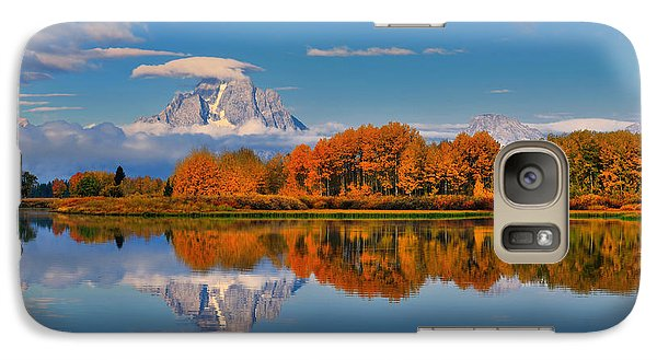 Galaxy Case featuring the photograph Autumn Foliage At The Oxbow by Greg Norrell