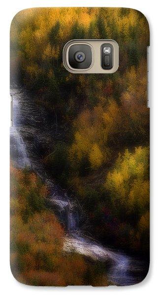 Galaxy Case featuring the photograph Autumn Forest Falls by Ellen Heaverlo