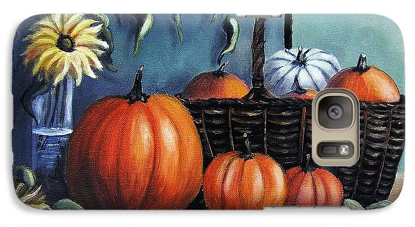 Galaxy Case featuring the painting Autumn Gifts by Vesna Martinjak