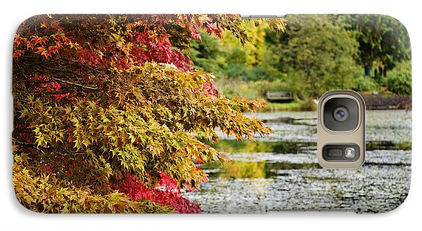 Galaxy Case featuring the photograph Autumn Glory By The Pond by Maria Janicki