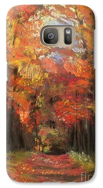 Galaxy Case featuring the painting Autumn Glow by Mary Lynne Powers