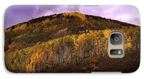 Galaxy Case featuring the photograph Autumn Hillside by Ellen Heaverlo