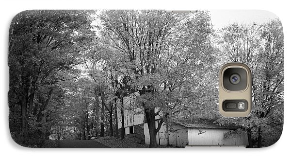 Galaxy Case featuring the photograph Autumn In Black And White by Phil Abrams