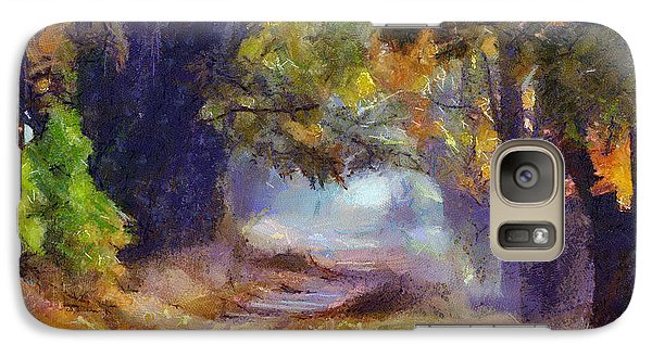 Galaxy Case featuring the painting Autumn In Forest by Georgi Dimitrov