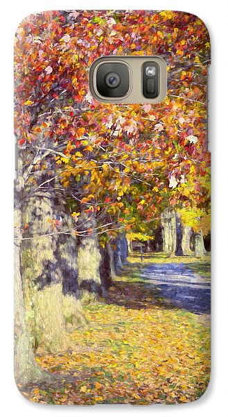 Hyde Park Galaxy S7 Case - Autumn In Hyde Park by Joan Carroll