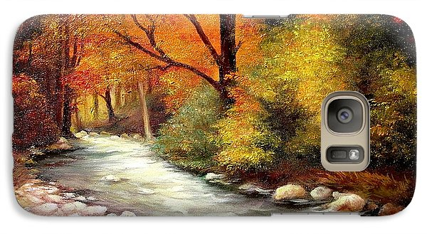 Galaxy Case featuring the painting Autumn In The Forest by Sorin Apostolescu
