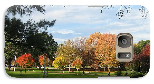Galaxy Case featuring the photograph Autumn In The Park by Leanne Seymour